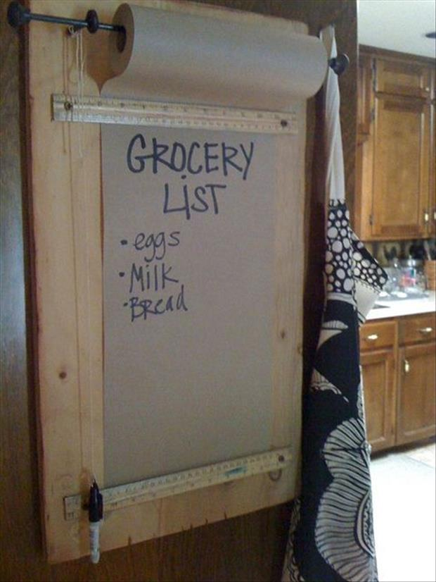 grocery list ideas crafts