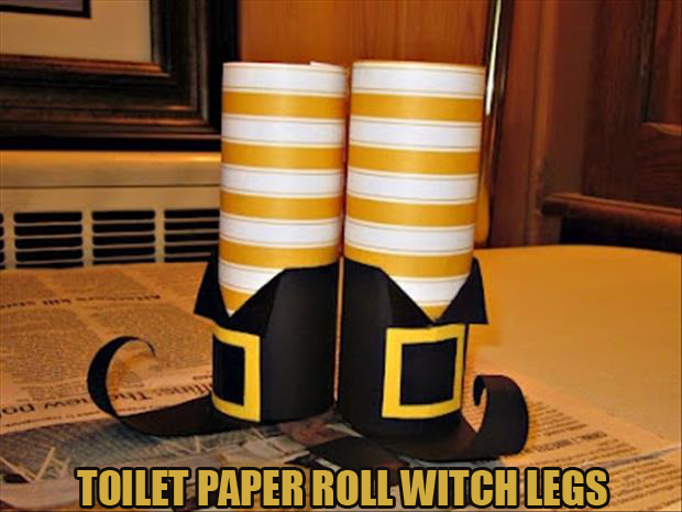Do it yourself halloween craft ideas 24 pics Toilet paper roll centerpieces