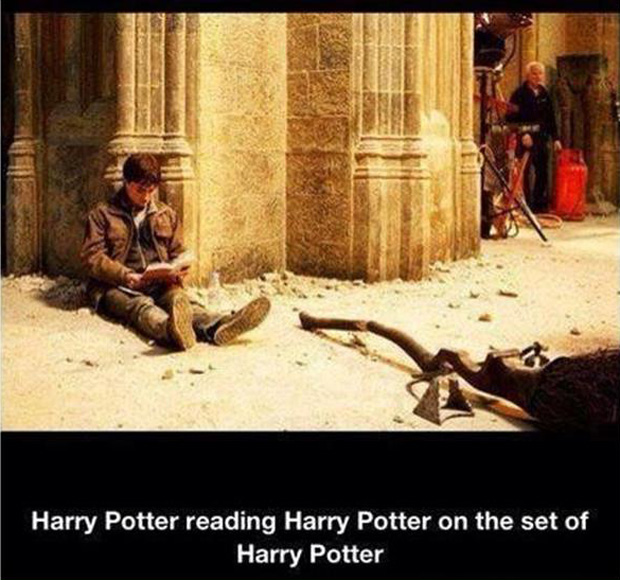 harry potter reading harry potter