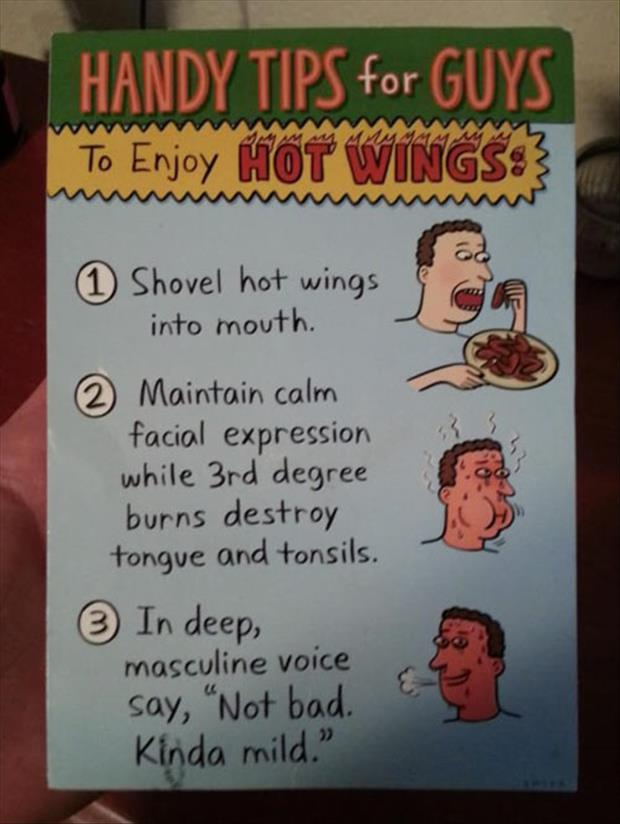 how to enjoy hot wings as a man