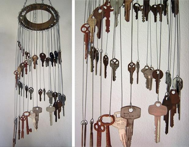 how to make a wind chime from old keys