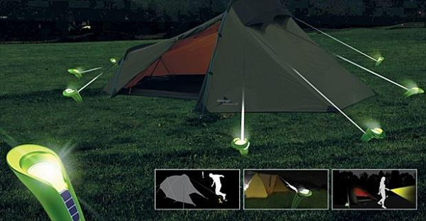 lighted tent stakes