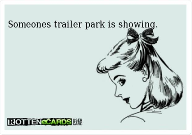 looks like your trailer park is showing