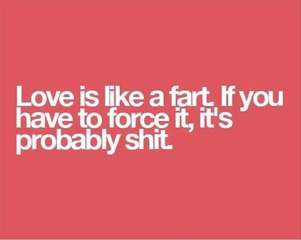 love is like a fart funny quotes