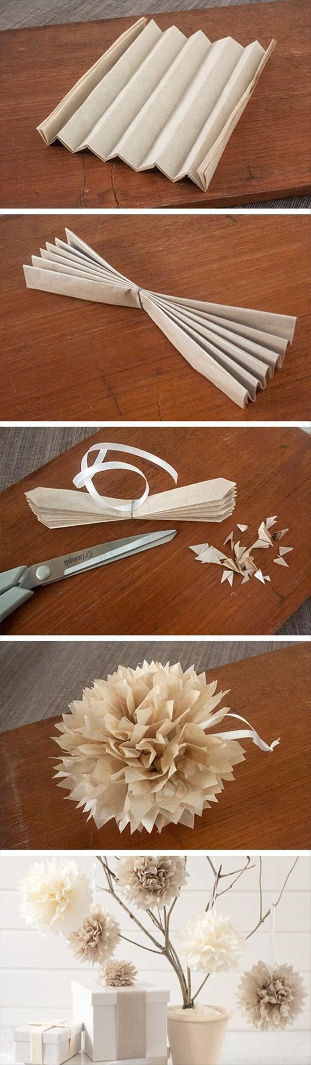 making paper flowers crafts