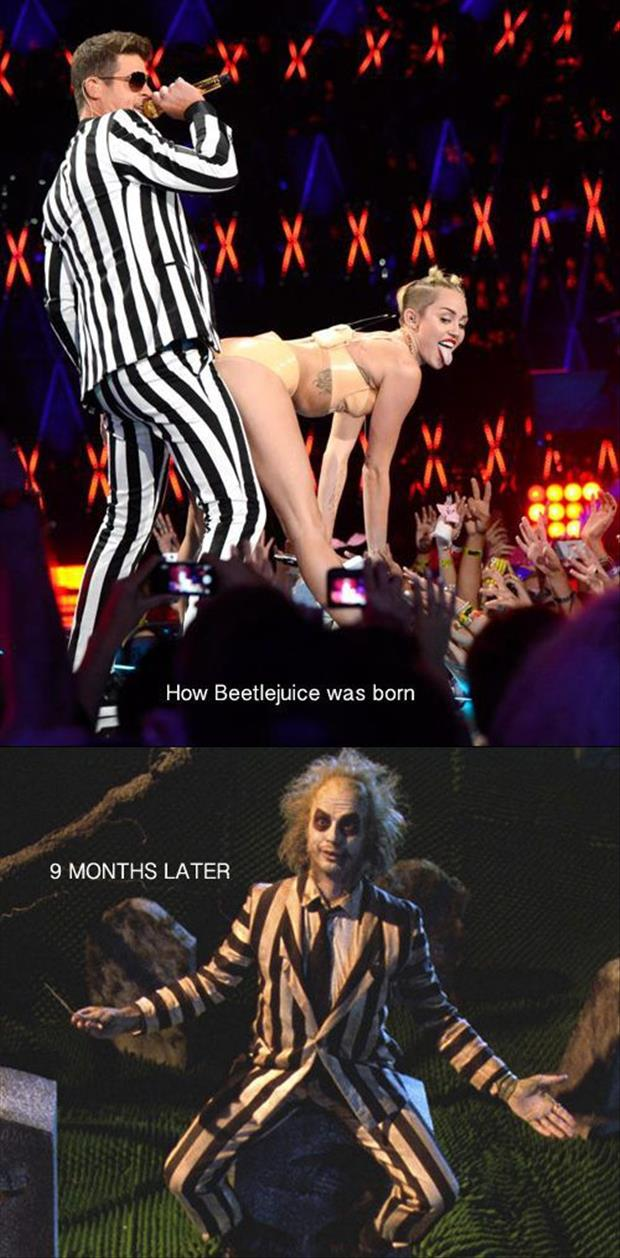 miley cyrus at the vma awards beetle juice