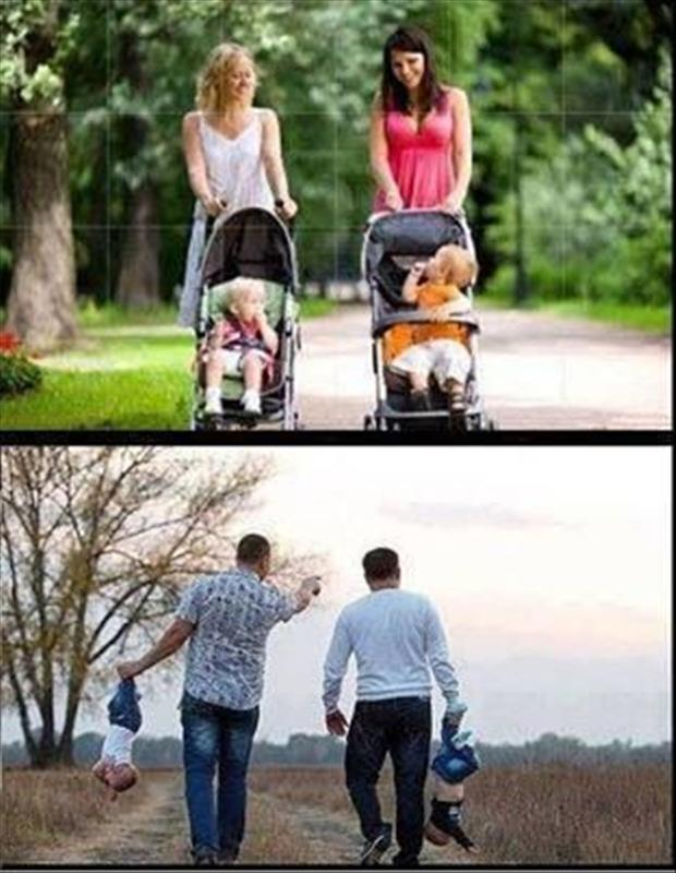 mom vs dads