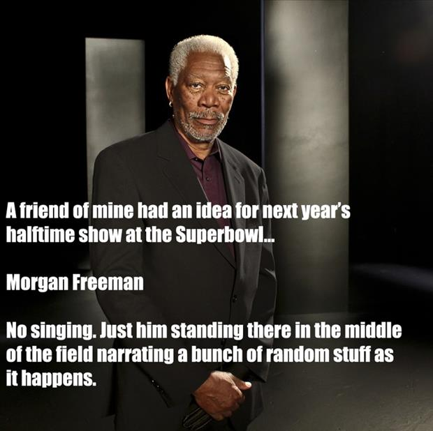 morgan freeman halftime show for superbowl