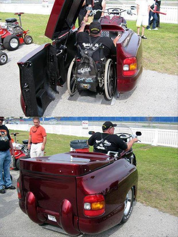 motorcycle for wheelchair guy