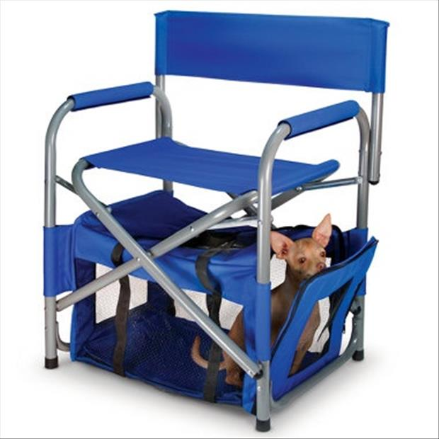 portable chair with pet chambers