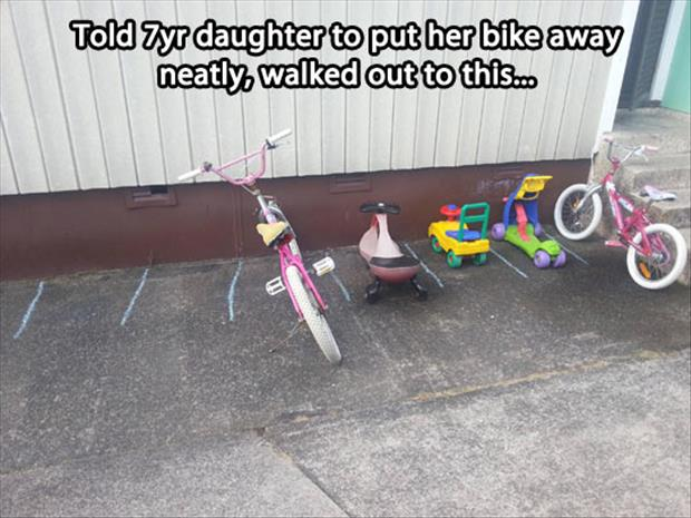 put your bike away