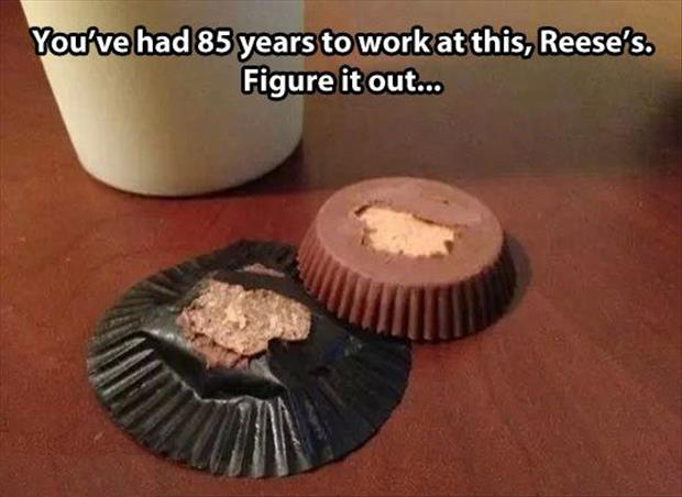 reeses peanut butter cup problems