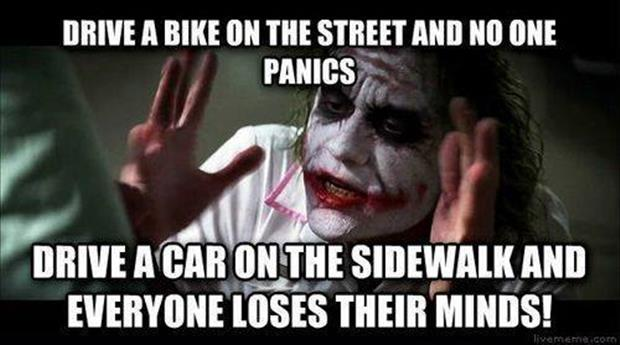 ride your bike on the street