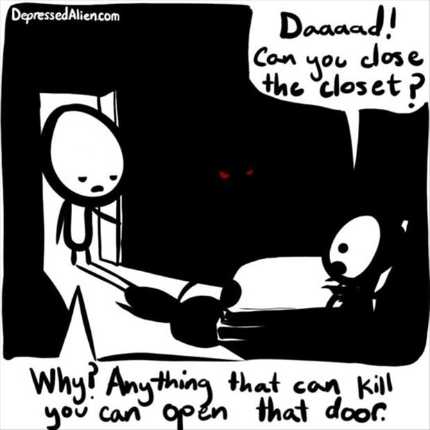 scared of the closet at night