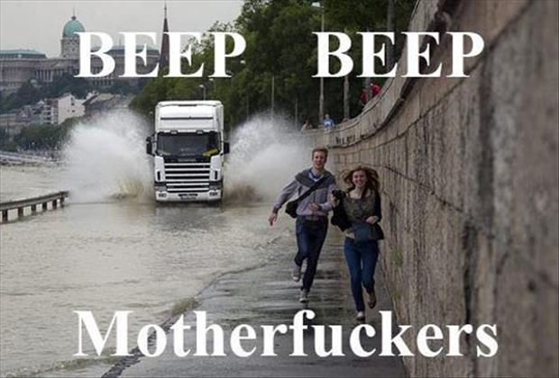 splashing people with your car