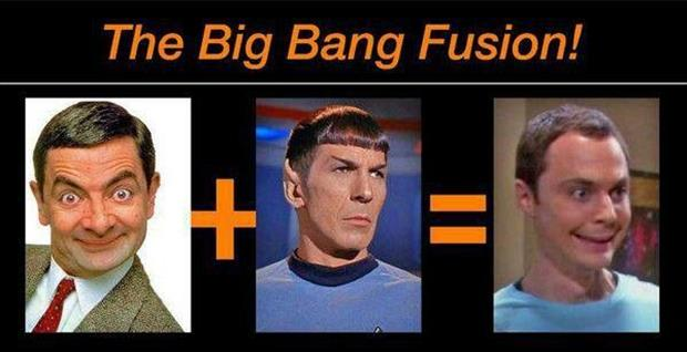 spock sheldon and mr bean
