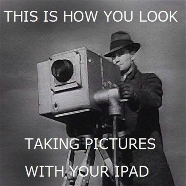 taking pictures with your ipad