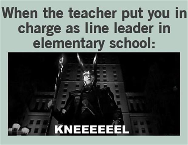 teacher puts you in charge