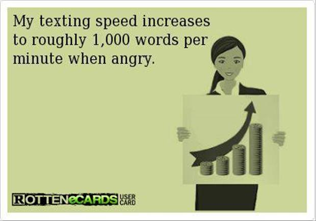 texting when angry