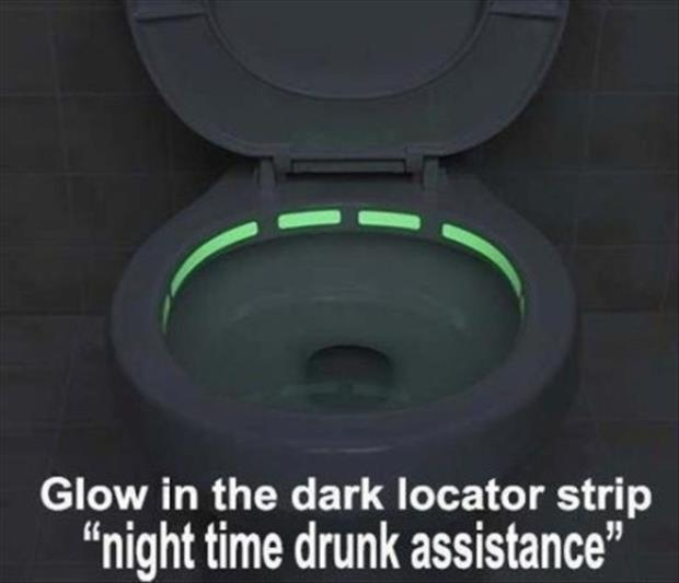the bathroom glow in the dark toilet