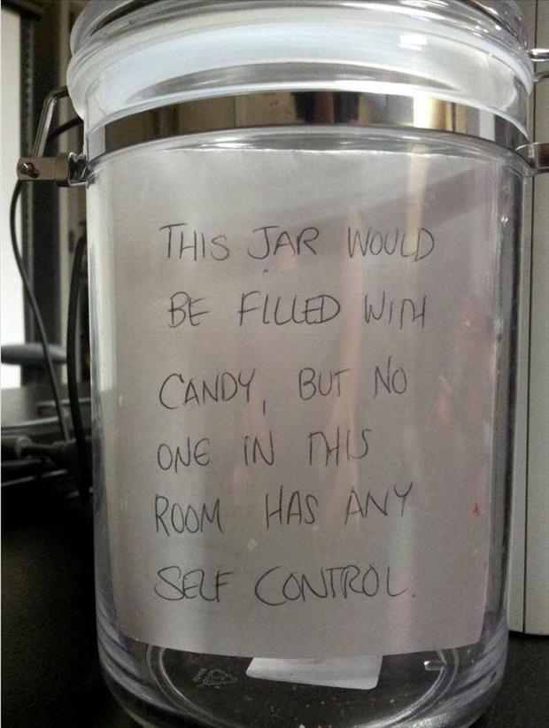 the candy jars