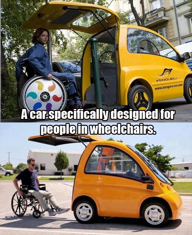 this car is specially designed for paralyzed