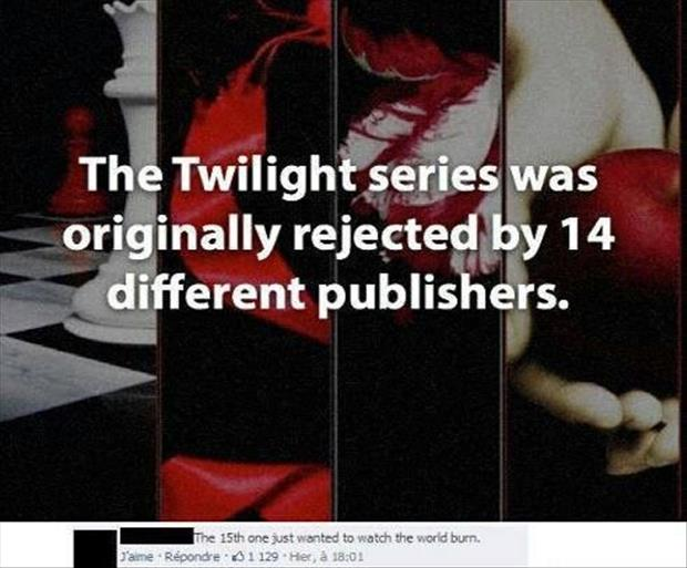twilight books were rejected 14 times