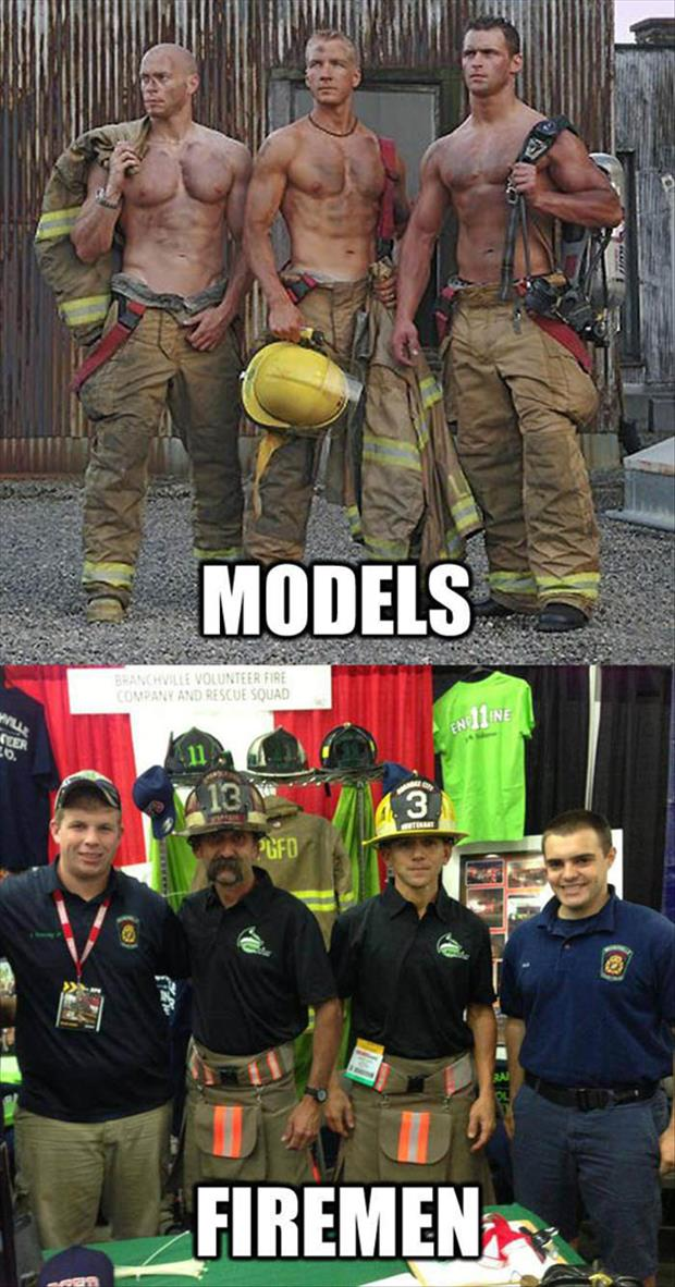 what real firemen look like