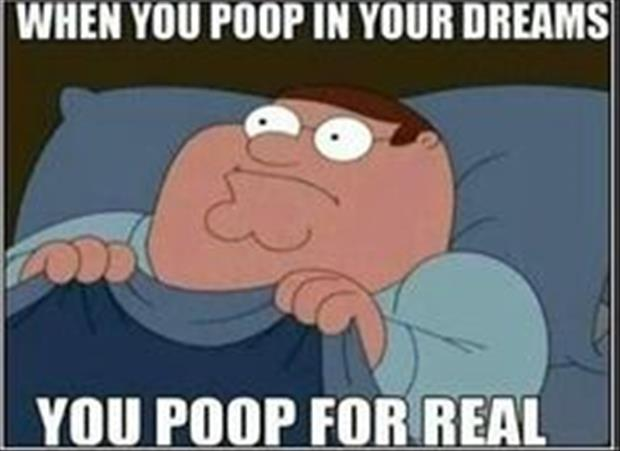 when you poop in your dreams you poop for real