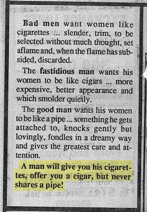 women are like cigars