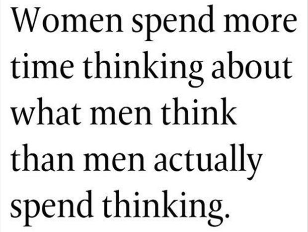 women spend more time thinking than men