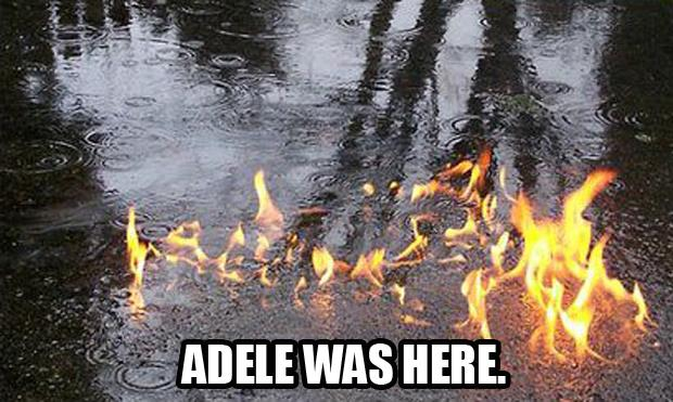 Adele was here
