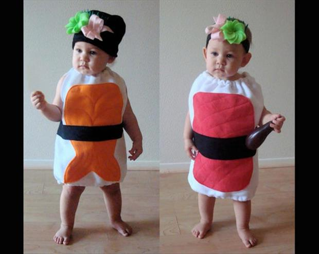 Adorable Baby Costumes- Sushi
