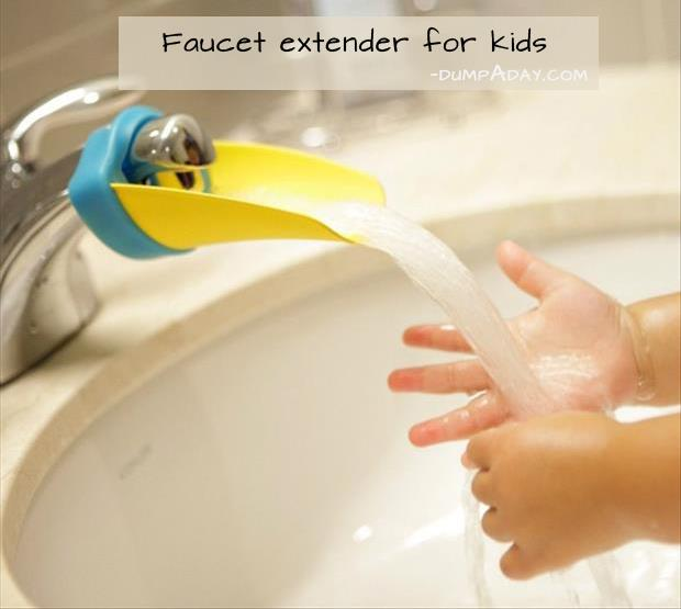 Genius Ideas- faucet extender for kids