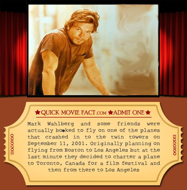 Quick Movie Facts - Mark Wahlberg 9-11