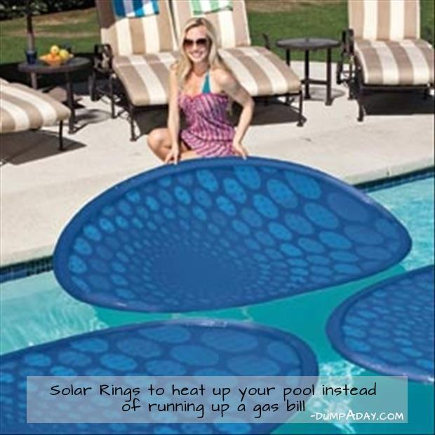 a Genius Ideas -Solar Rings to heat pool instead of running up gas bill