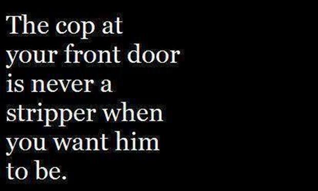 a cop at your front door