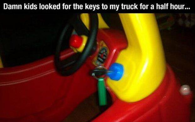 a kids stole my keys