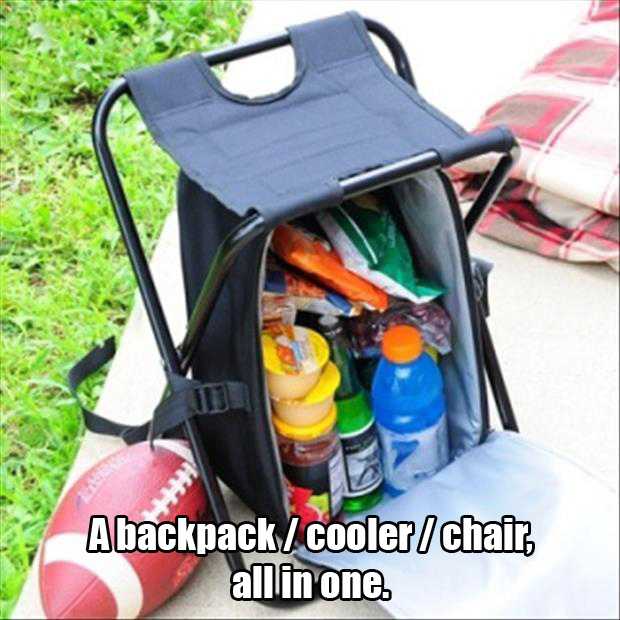 backpack cooler chair in one