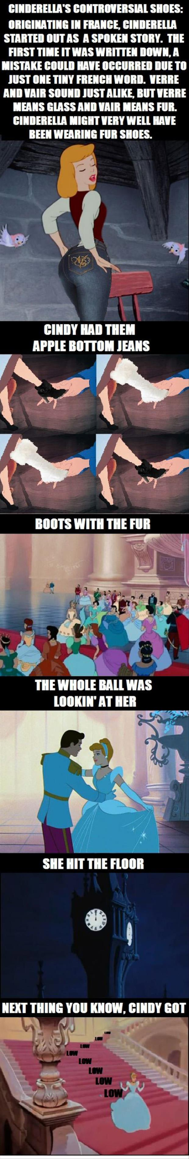 cinderella shoes fur