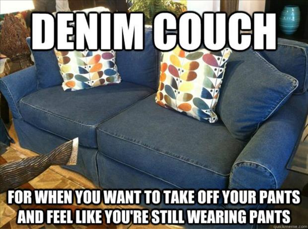 demin couch