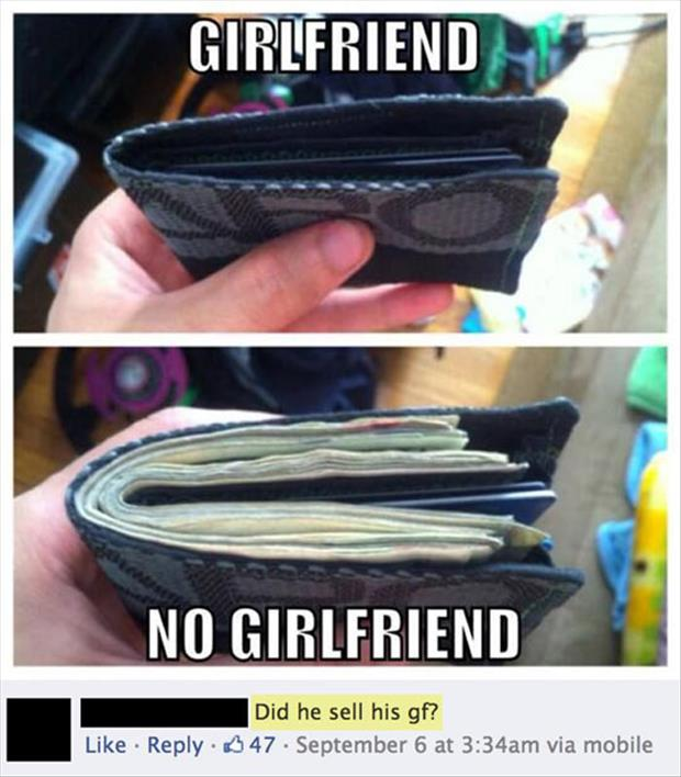 did he sell his girlfriend