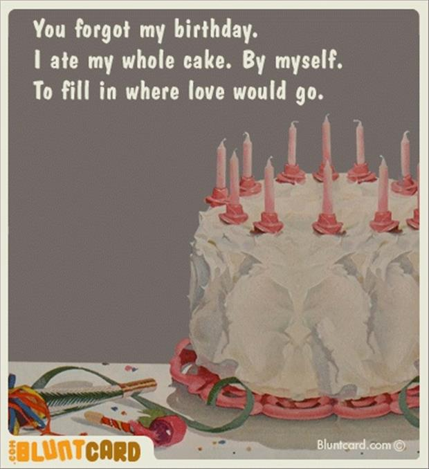 15 Funny Birthday Quotes Nobody Will Forget: You Forgot My Birthday Quotes. QuotesGram