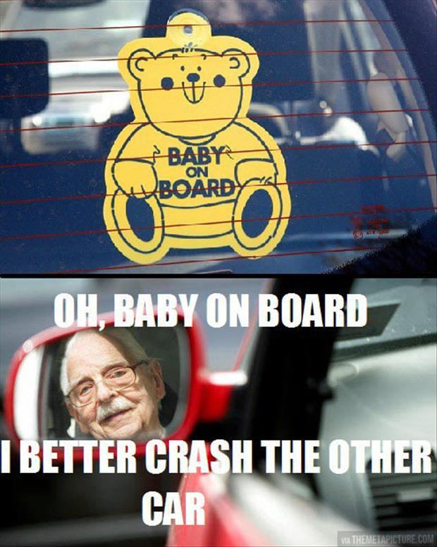 funny baby on board logic