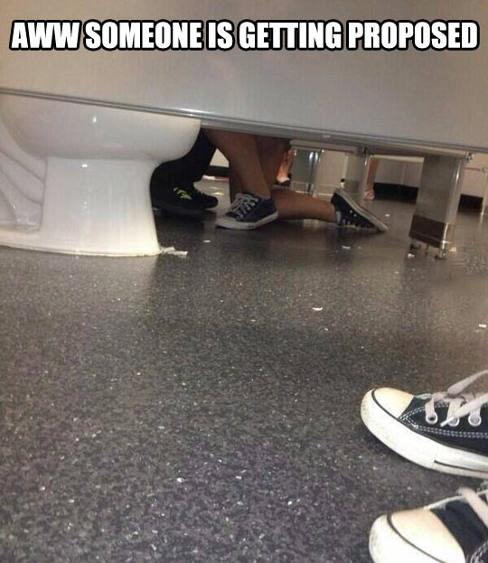 funny bathroom proposals