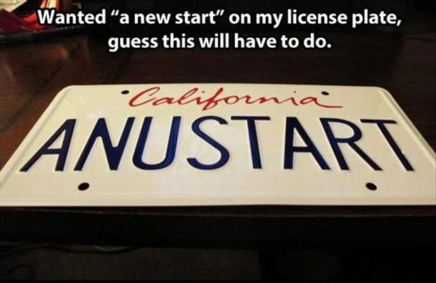 funny license plate