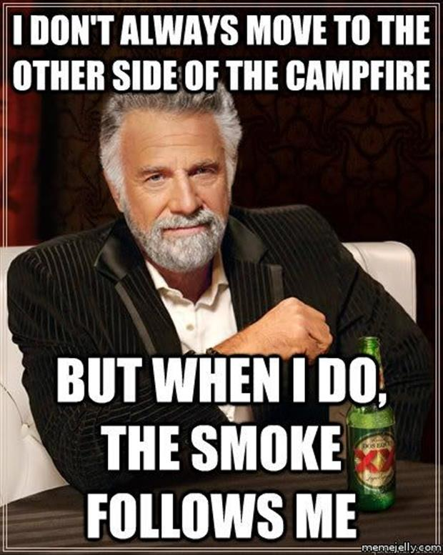 funny memes camp fire