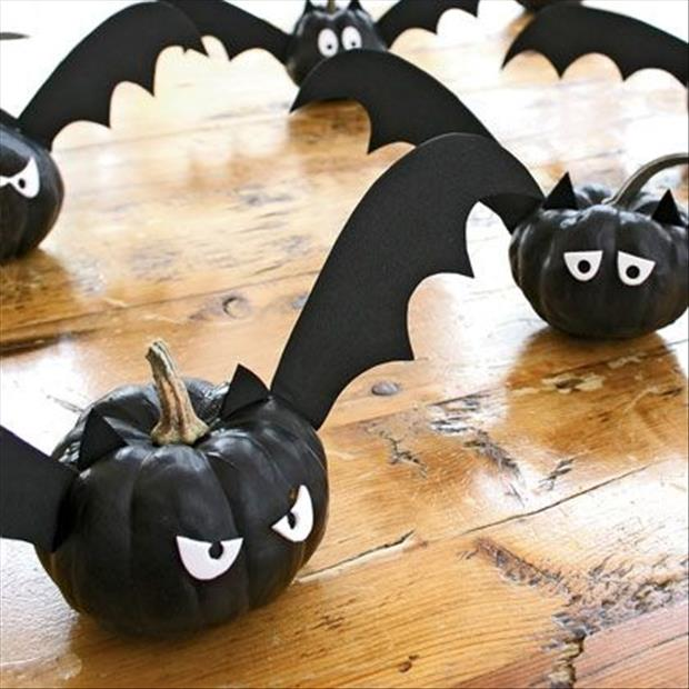 Do it yourself halloween craft ideas 30 pics - Charming kid halloween decoration with various batman pumpkin ...