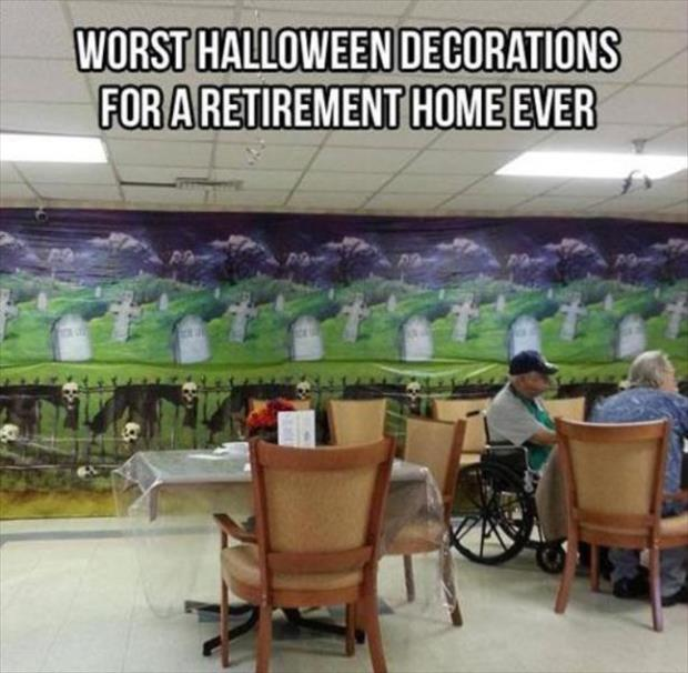 halloween decorations for a retirement home
