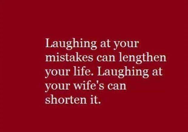 laugh at your mistakes
